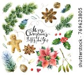big christmas collection of... | Shutterstock . vector #769623805