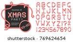 abc   festive vector alphabet...   Shutterstock .eps vector #769624654