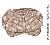 vector cartoon checkered retro... | Shutterstock .eps vector #769629751