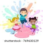 illustration of stickman kids... | Shutterstock .eps vector #769630129