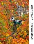 abstract blur autumn season... | Shutterstock . vector #769632505