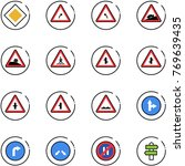 line vector icon set   main... | Shutterstock .eps vector #769639435