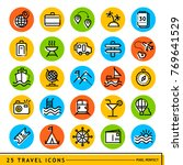 travel icons set in color...   Shutterstock .eps vector #769641529