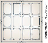 set of vintage frames with... | Shutterstock .eps vector #769641967