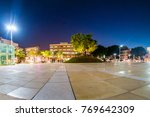 view of habima square at night... | Shutterstock . vector #769642309