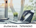 business work table in office... | Shutterstock . vector #769646065