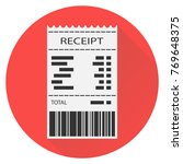 receipt  white receipt with... | Shutterstock .eps vector #769648375