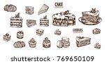 digital vector detailed line... | Shutterstock .eps vector #769650109