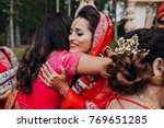 stunning indian bride dressed... | Shutterstock . vector #769651285