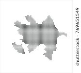 pixel map of azerbaijan. vector ... | Shutterstock .eps vector #769651549