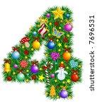 Number 4   Christmas Tree...