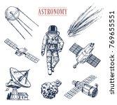 astronaut spaceman. planets in... | Shutterstock .eps vector #769655551