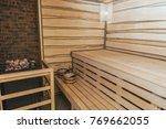 interior of moder wooden...   Shutterstock . vector #769662055