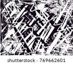 print distress background in... | Shutterstock .eps vector #769662601