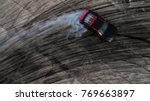top view of a drifting car ...   Shutterstock . vector #769663897