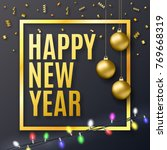2018 new year background for... | Shutterstock . vector #769668319