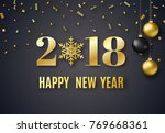 2018 new year background for... | Shutterstock . vector #769668361