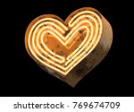 metallic orange neon font... | Shutterstock . vector #769674709