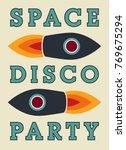 typographic vintage space disco ... | Shutterstock .eps vector #769675294
