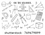 maths and geometry. hand... | Shutterstock .eps vector #769679899