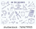 Maths And Geometry. Hand...