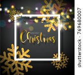christmas background with... | Shutterstock .eps vector #769680007