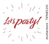 let's party illustration vector | Shutterstock .eps vector #769681141
