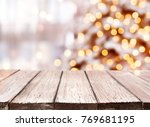 holidays background with light... | Shutterstock . vector #769681195