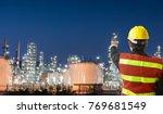 petrochemical engineering man...   Shutterstock . vector #769681549