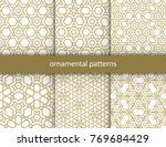 vector set of 6 oriental... | Shutterstock .eps vector #769684429