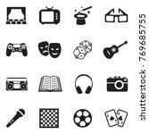 entertainment icons. black flat ... | Shutterstock .eps vector #769685755