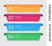 infographics template for... | Shutterstock .eps vector #769688464