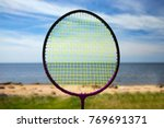 racket on the background of the ... | Shutterstock . vector #769691371