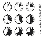 stopwatch vector icon  set of... | Shutterstock .eps vector #769691485