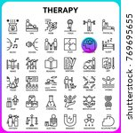 theraphy outline icon set based ... | Shutterstock .eps vector #769695655