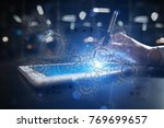 virtual interface with... | Shutterstock . vector #769699657