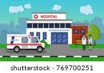 the ambulance opposite the of... | Shutterstock .eps vector #769700251