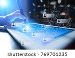 human resource management  hr ... | Shutterstock . vector #769701235
