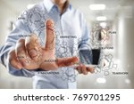 business strategy concept on... | Shutterstock . vector #769701295