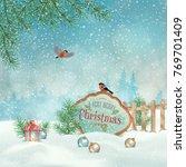 vector christmas winter... | Shutterstock .eps vector #769701409