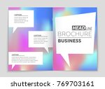 abstract vector layout... | Shutterstock .eps vector #769703161