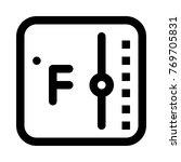 fahrenheit temperature monitor   Shutterstock .eps vector #769705831