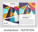 abstract vector layout... | Shutterstock .eps vector #769707334