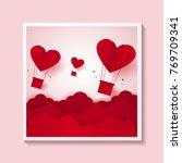 valentines day   illustration... | Shutterstock .eps vector #769709341