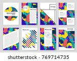 abstract vector layout... | Shutterstock .eps vector #769714735