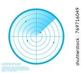 radar screen icon. vector...   Shutterstock .eps vector #769716049