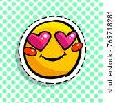 smile in love emoticon. happy...   Shutterstock .eps vector #769718281