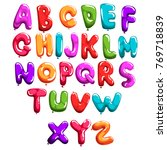 set of colorful font in form... | Shutterstock .eps vector #769718839