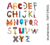 collection of letters made of... | Shutterstock .eps vector #769719031