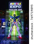 Small photo of Bangkok, Thailand - September 31, 2017: Mobile Suit Gundam Astraea Model at Gunpla Expo Thailand 2017